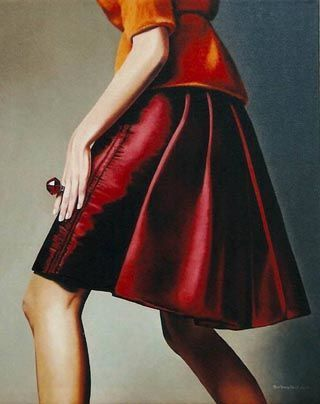 When I go I'll wear my red skirt