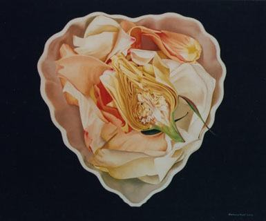Rose Heart in Belleek