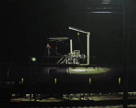 Oil Car at Night